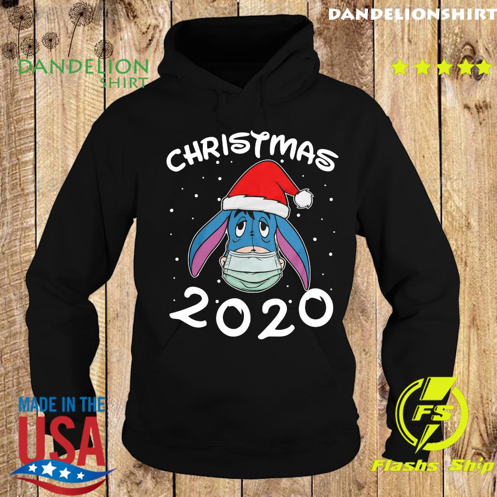 Face Eeyore Santa Wear Mask Merry Christmas 2020 Christmas Sweats Hoodie