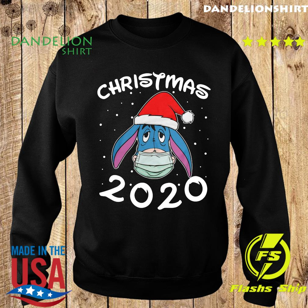 Face Eeyore Santa Wear Mask Merry Christmas 2020 Christmas Sweatshirt
