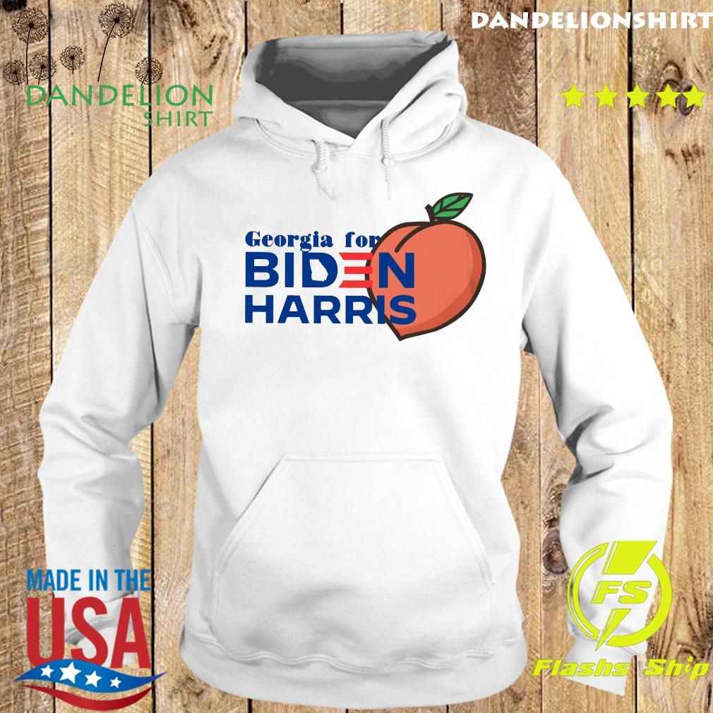 Georgia For Biden Harris Peach Shirt Hoodie