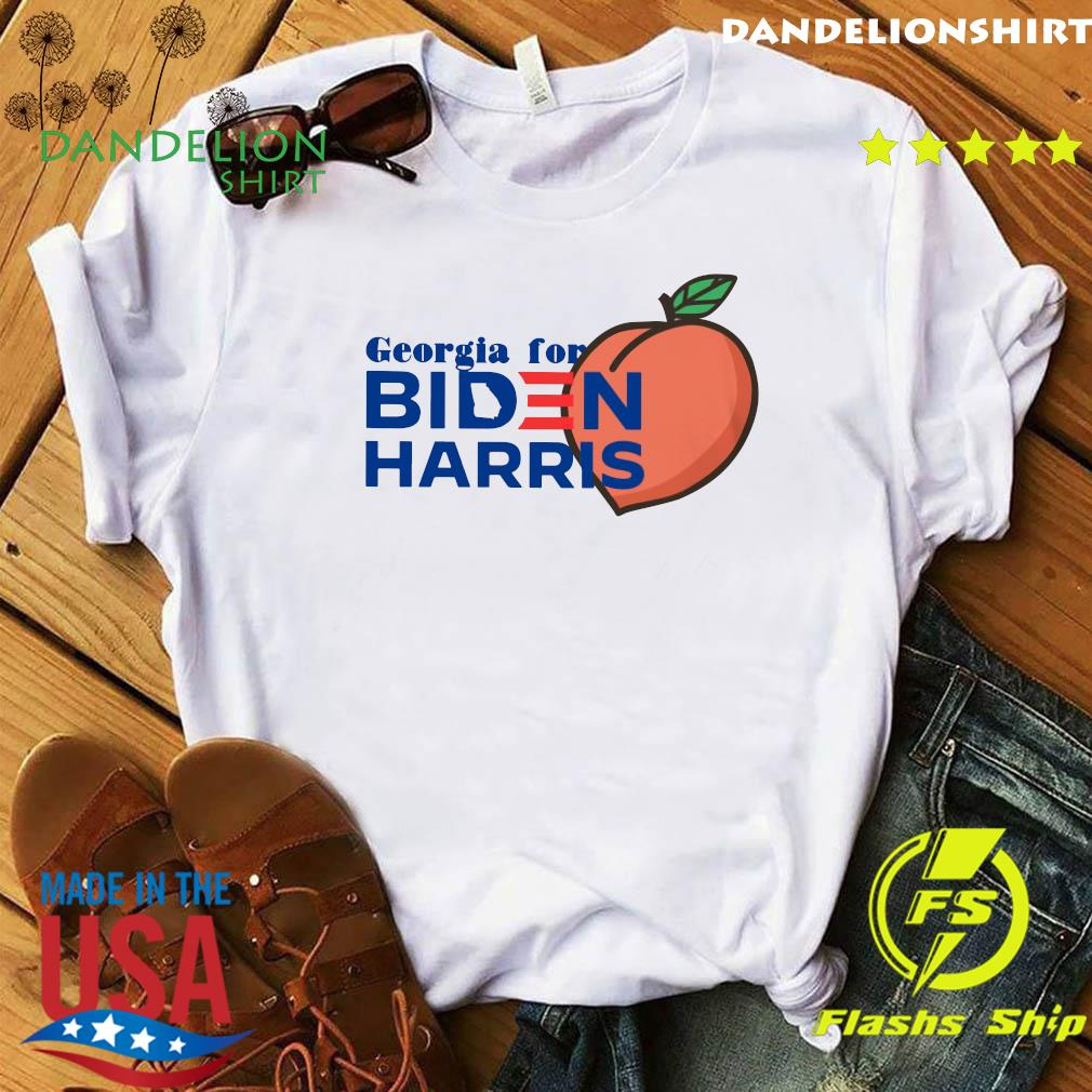 Georgia For Biden Harris Peach Shirt
