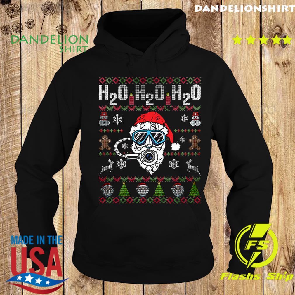 H2o H2o H2o Dive Reindeer Santa Claus Ugly Merry Christmas Sweats Hoodie