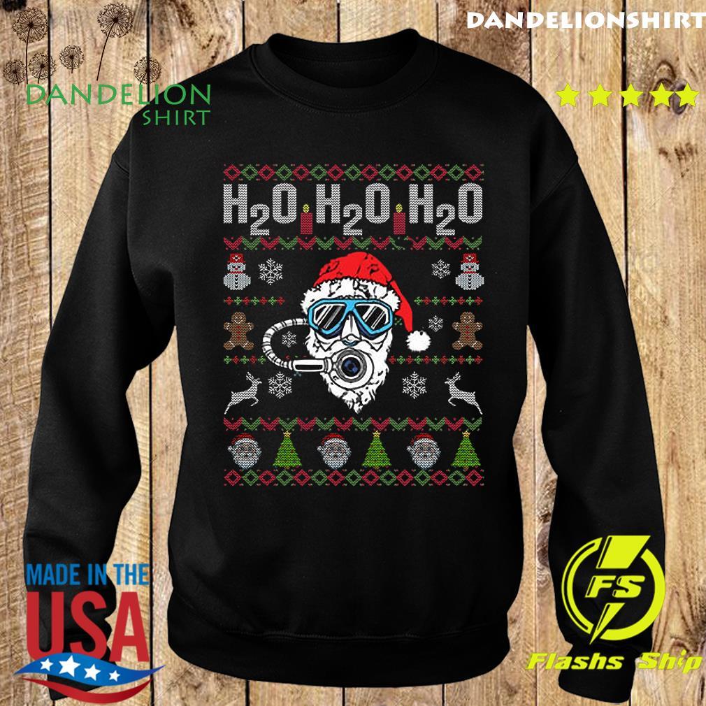 H2o H2o H2o Dive Reindeer Santa Claus Ugly Merry Christmas Sweatshirt