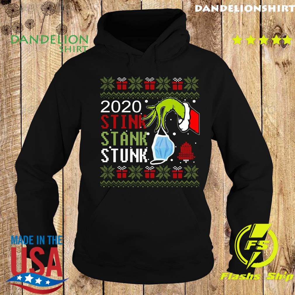 Hand Grinch Holding Mask 2020 Stink Stank Stunk Ugly Christmas Sweats Hoodie