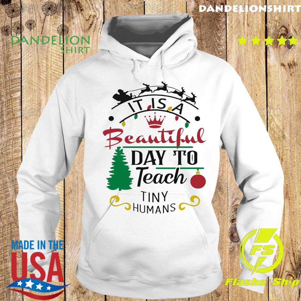It Is A Beautiful Day To Teach Tiny Humans Christmas Sweats Hoodie