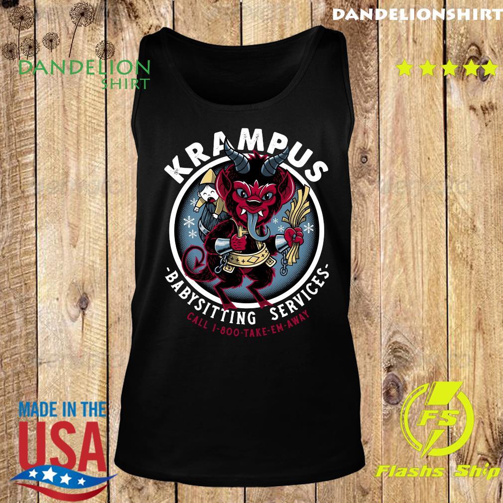 Krampus Babysitting Services Call 1 800 Take Em Away Shirt Tank top
