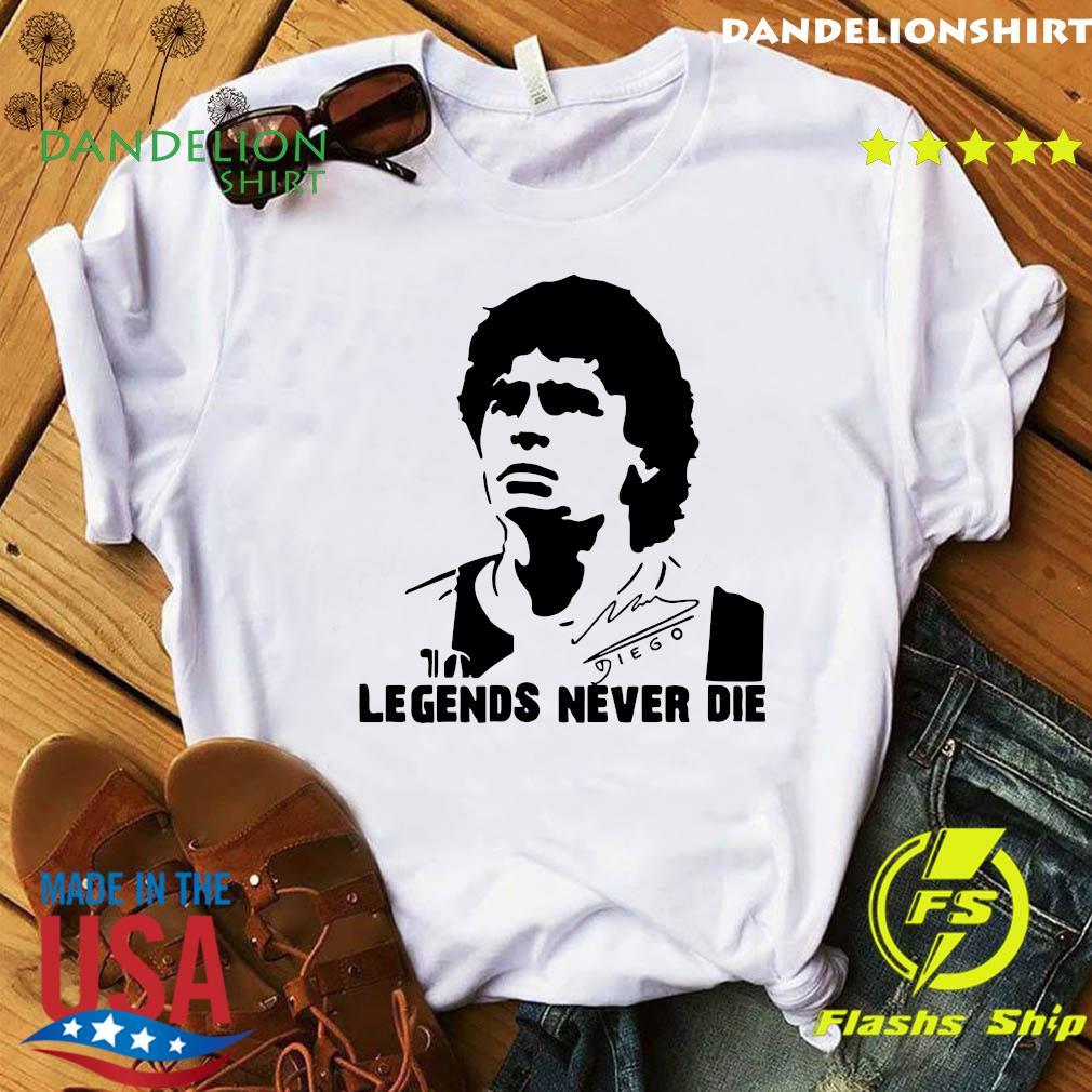 Legend never dies Diego Armando Maradona 10 Soccer Legend, Football Napoli Maradona, Legend Soccer T-Shirt