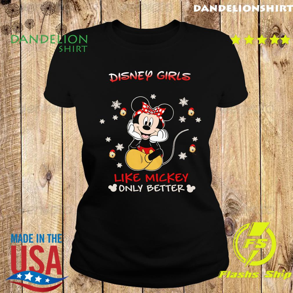 Mickey Mouse Disney Girls Like Mickey Only Better Shirt Ladies tee