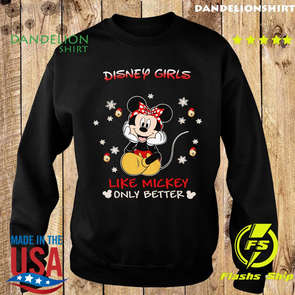 Mickey Mouse Disney Girls Like Mickey Only Better Shirt Sweater