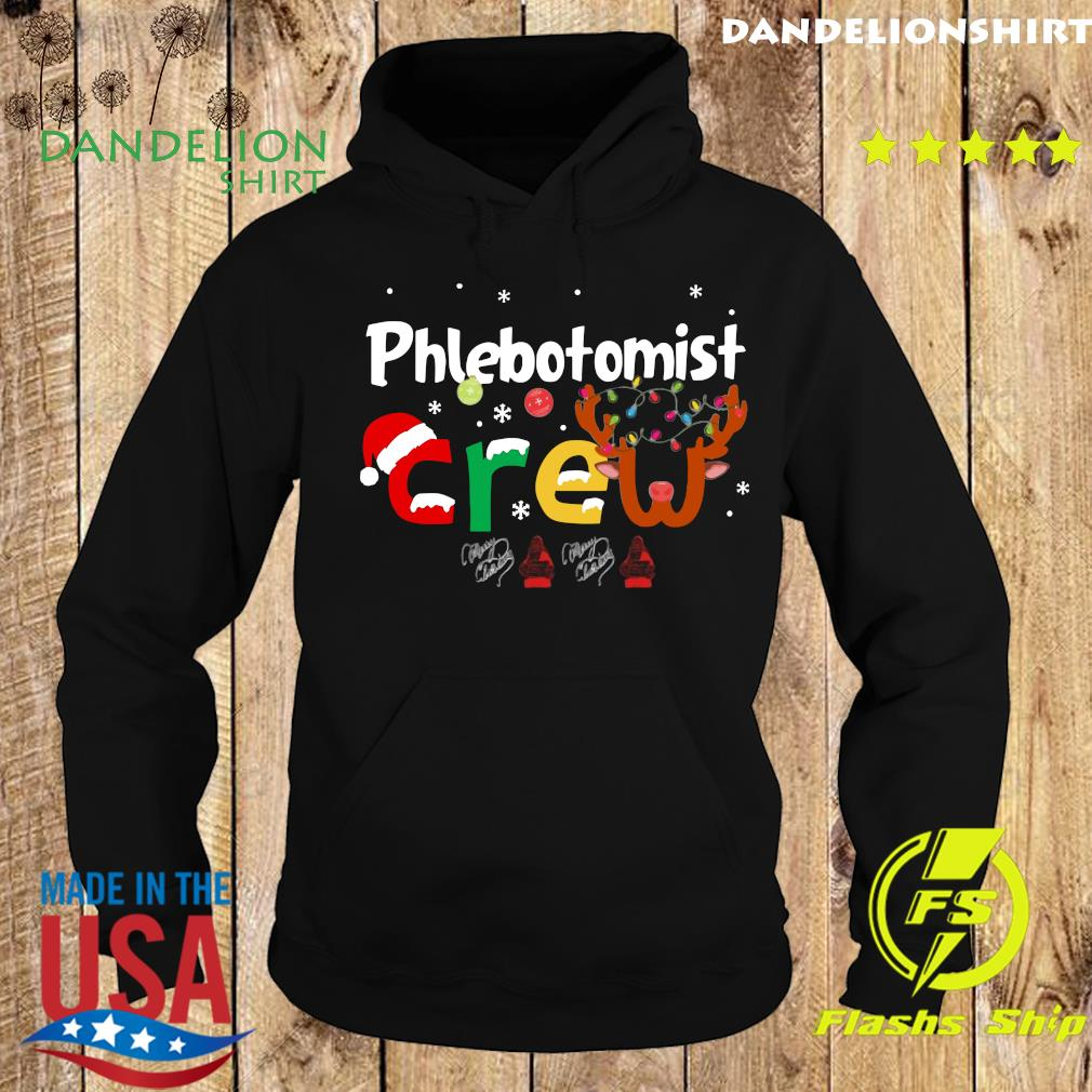 Phlebotomist Crew Merry Christmas Sweats Hoodie