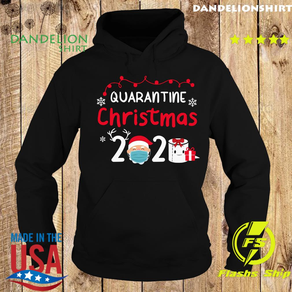 Quarantine Christmas 2020 Santa Claus Face Mask Toilet Paper Gift Sweats Hoodie