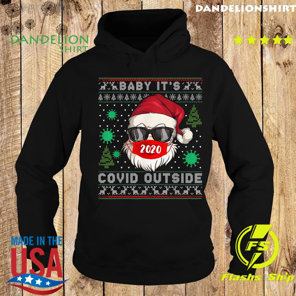 Santa Claus Face Mask 2020 Baby It's Covid 19 Outside Merry Christmas Ugly Sweats Hoodie
