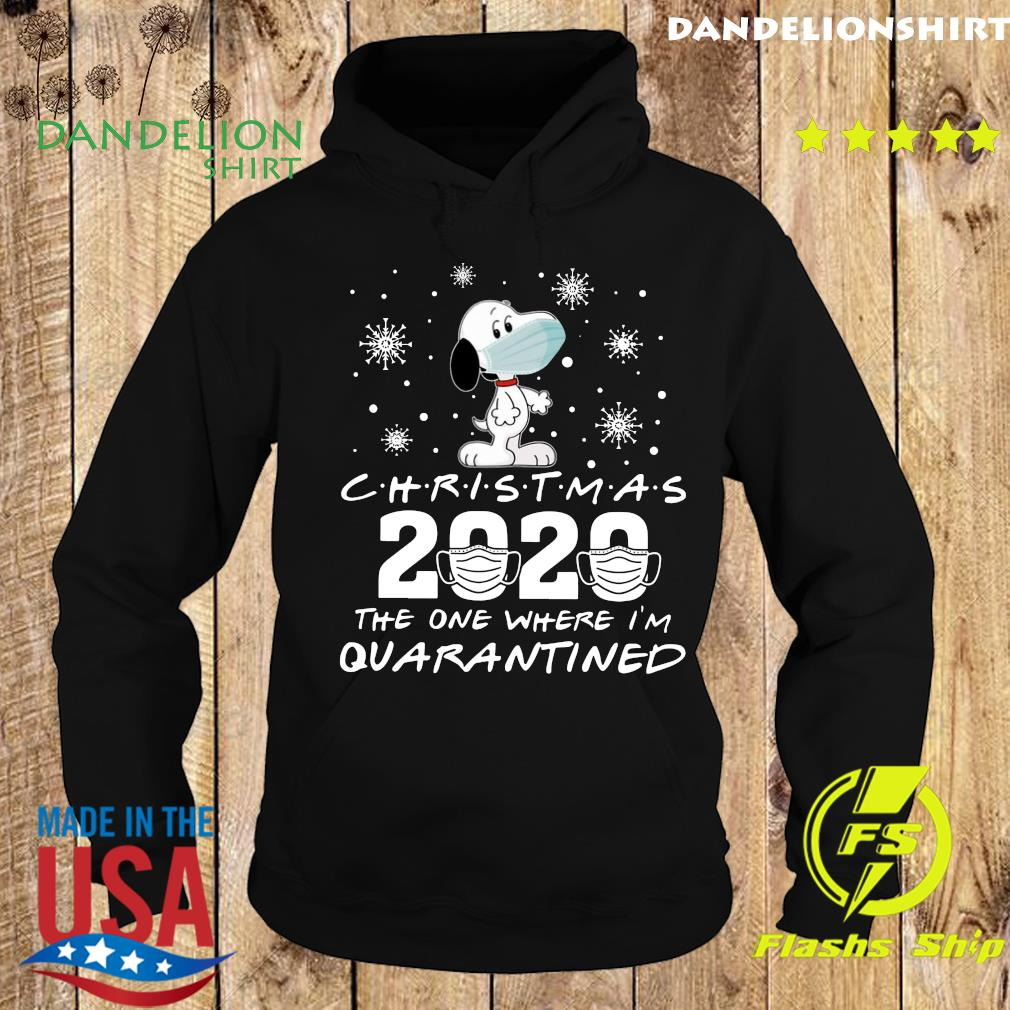 Snoopy Face Mask Christmas 2020 The One Where I'm Quarantined Shirt Hoodie