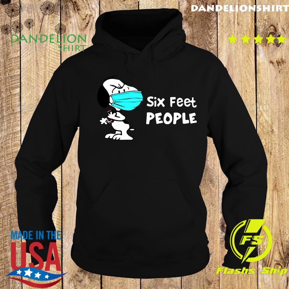 Snoopy Face Mask Six Feet People Shirt Hoodie