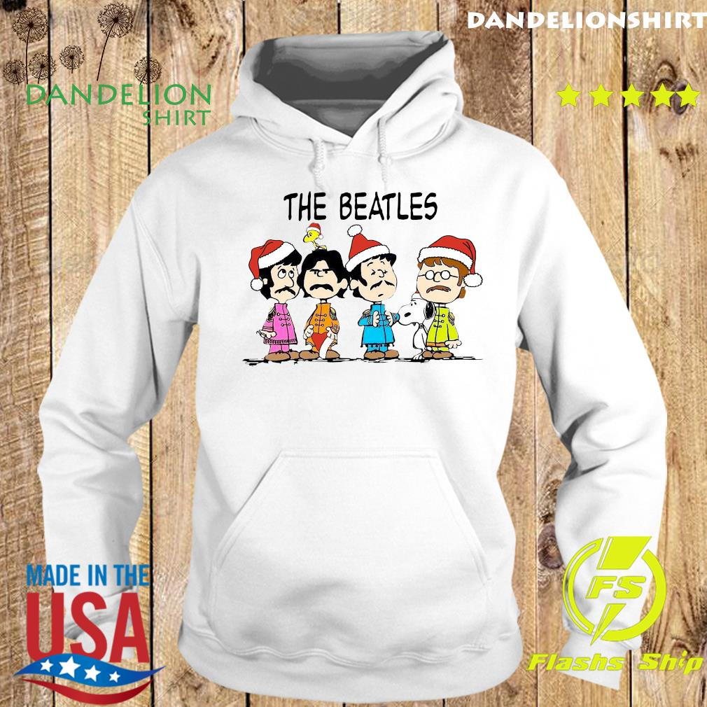 The Beatles Santa And Snoopy Christmas Sweats Hoodie