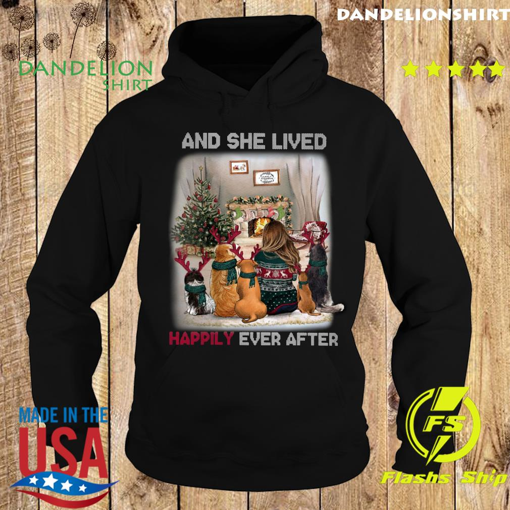 And She Lived Happily Ever After Dog Christmas Sweats Hoodie