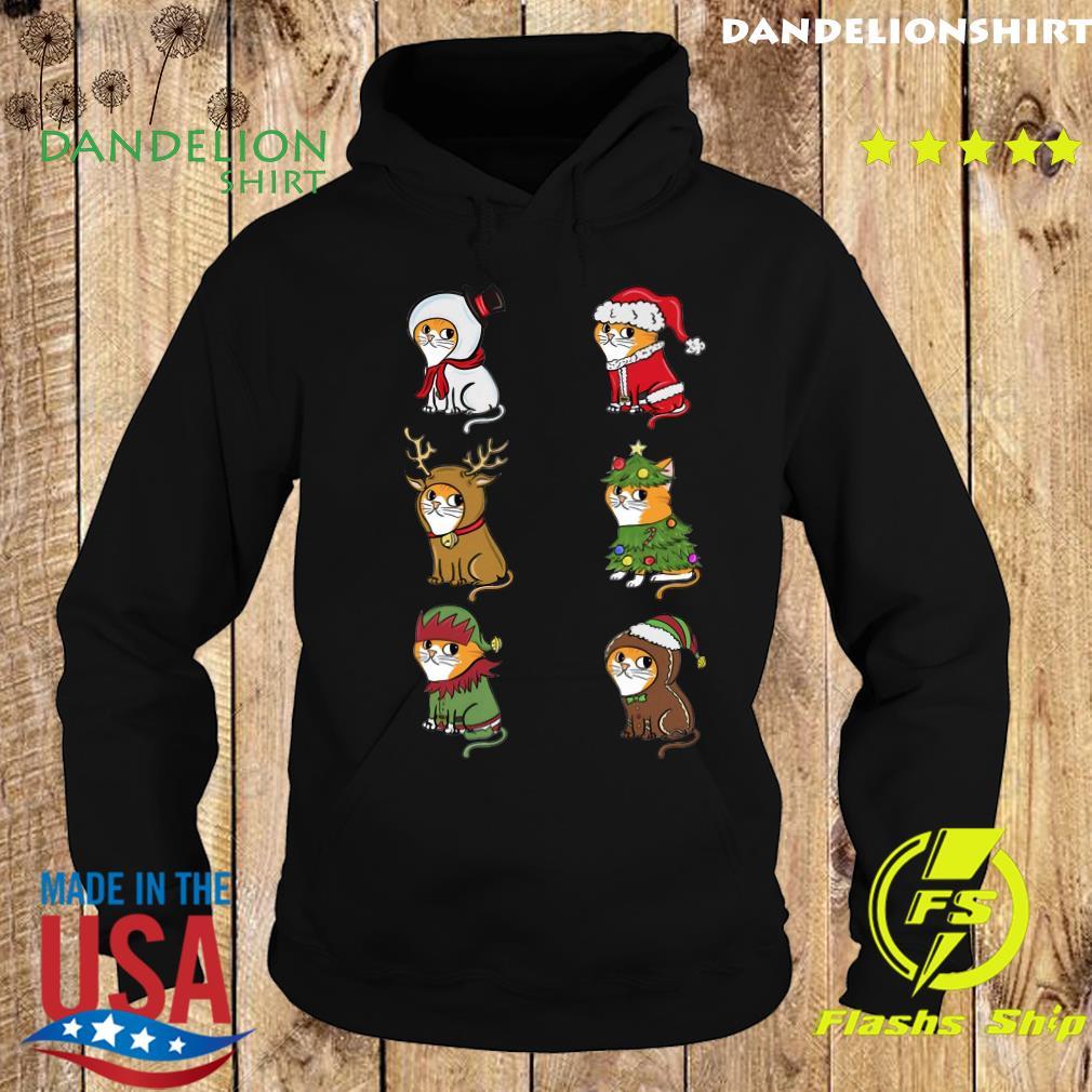 Cat Elf Santa Reindeer Christmas Sweats Hoodie