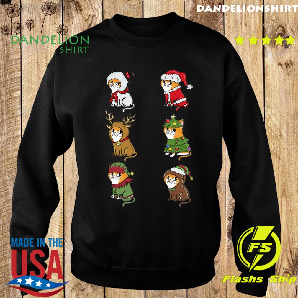 Cat Elf Santa Reindeer Christmas Sweatshirt