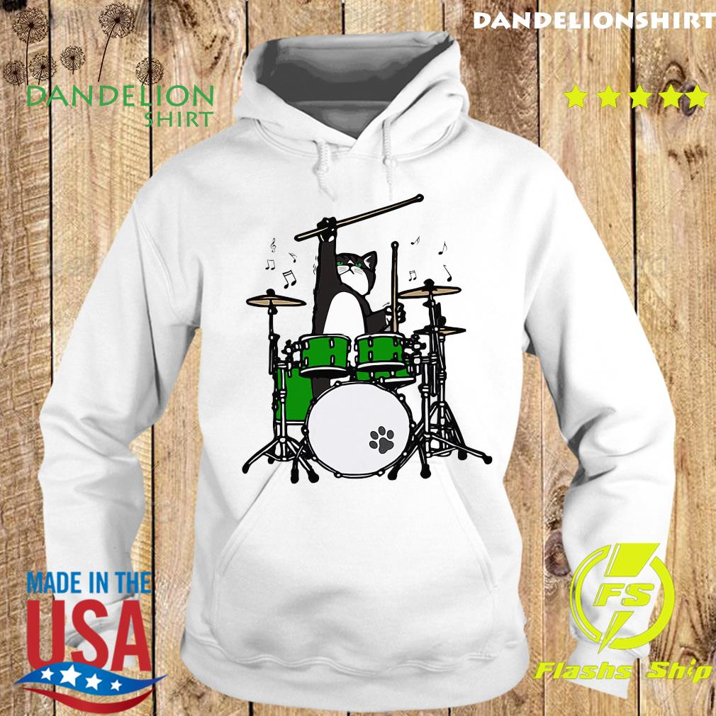 Cat Meow Band And Drum Shirt Hoodie