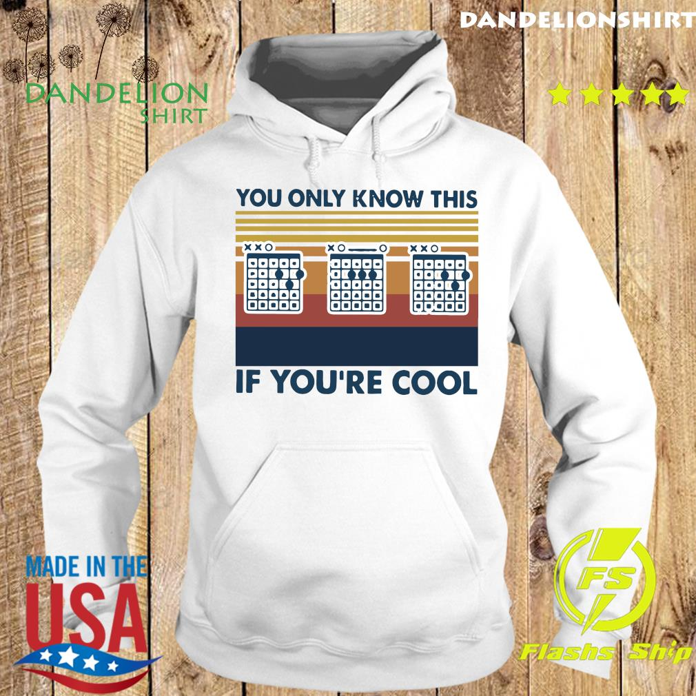 Guitar You Only Know This If You're Cool Vintage Retro Shirt Hoodie