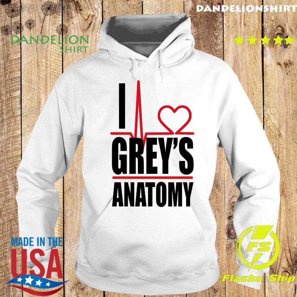 I Love Grey's Anatomy Heartbeat Shirt Hoodie