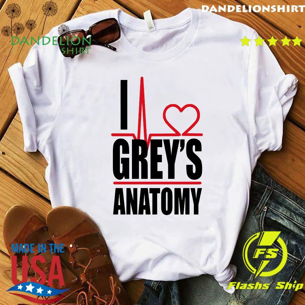 I Love Grey's Anatomy Heartbeat Shirt