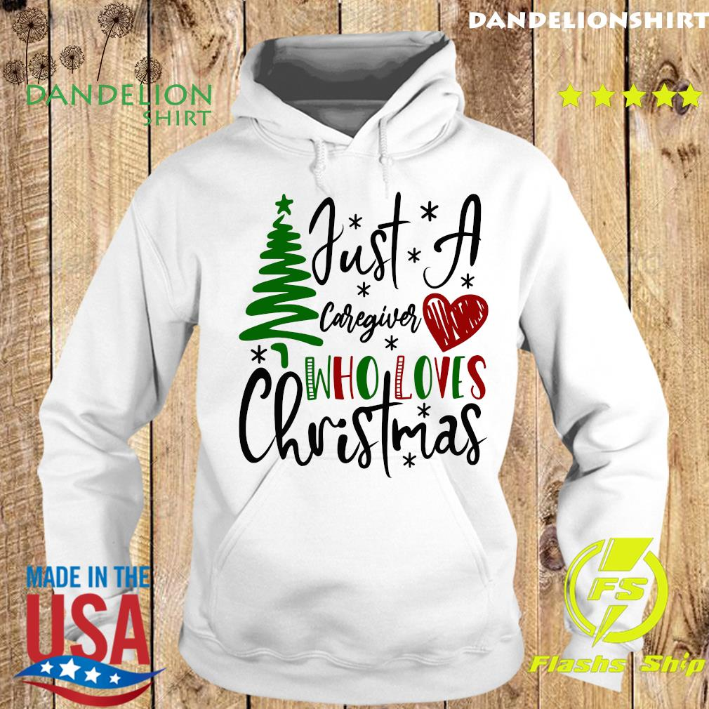 Just A Caregiver Who Loves Christmas Sweats Hoodie