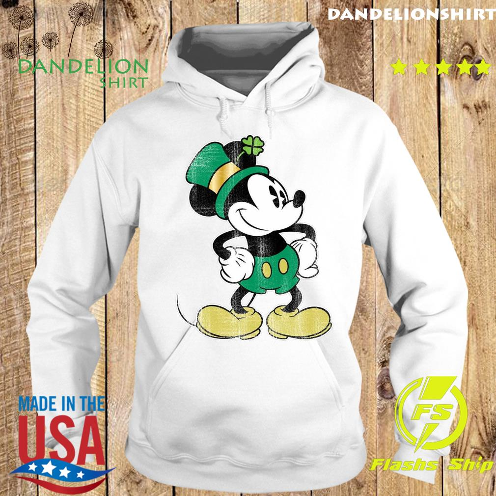 Mickey Mouse Green St. Patrick's Standing Lucky Shirt Hoodie