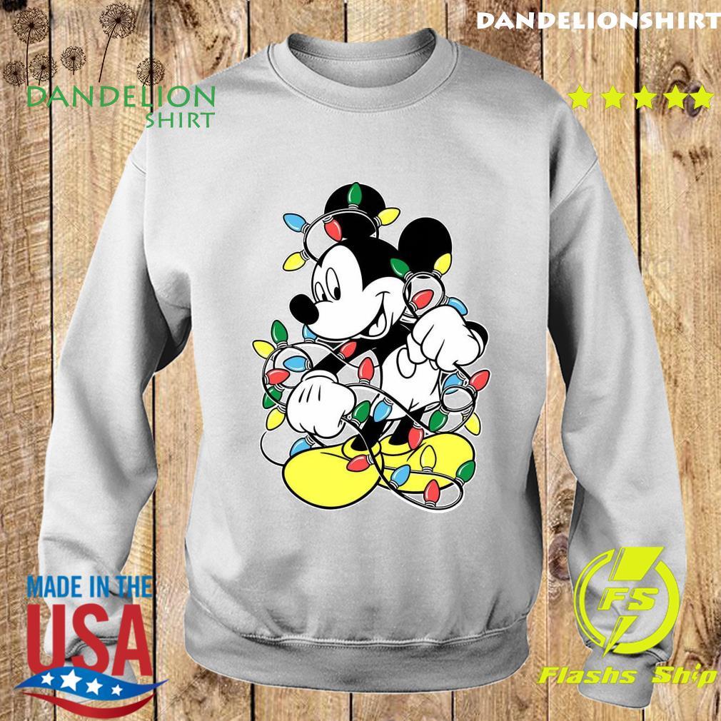 Mickey Mouse Merry Christmas Light Sweatshirt