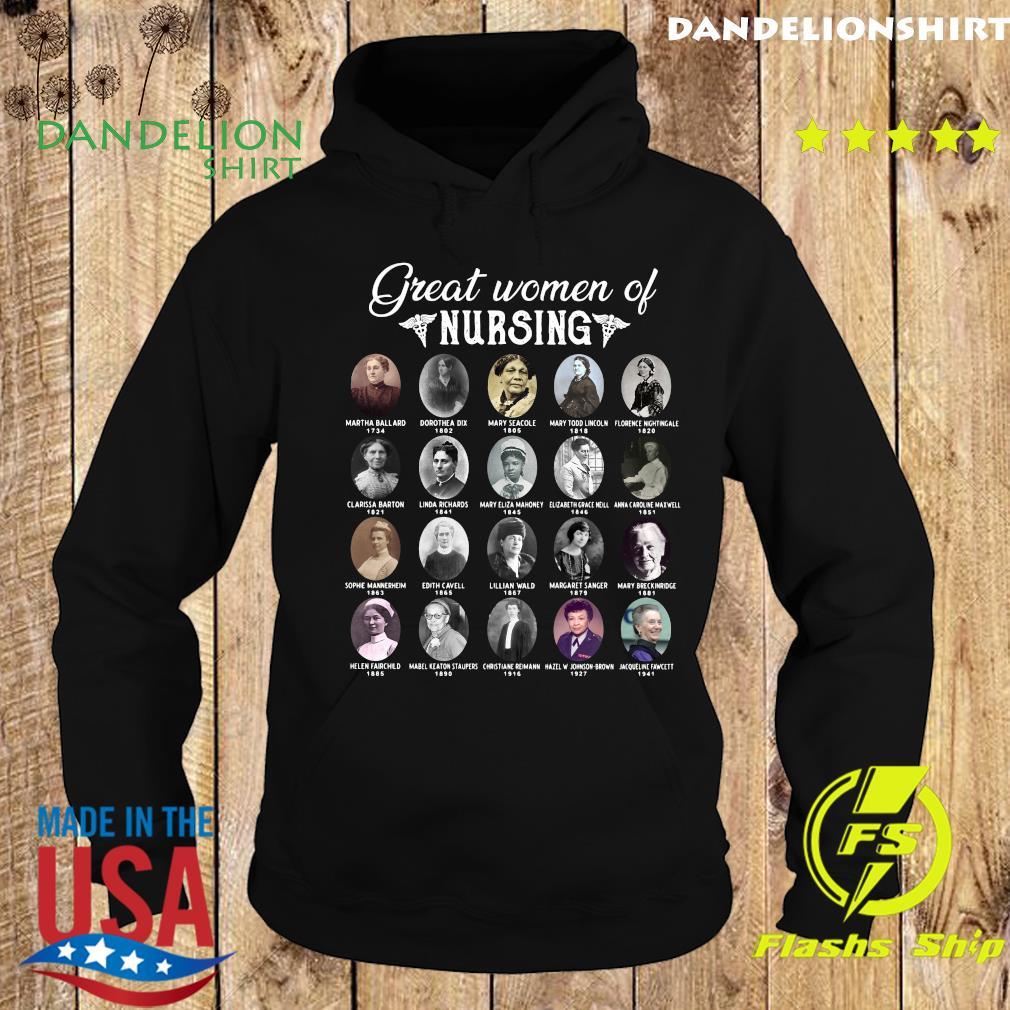 Nurse Great Women Of Nursing Famous People Shirt Hoodie