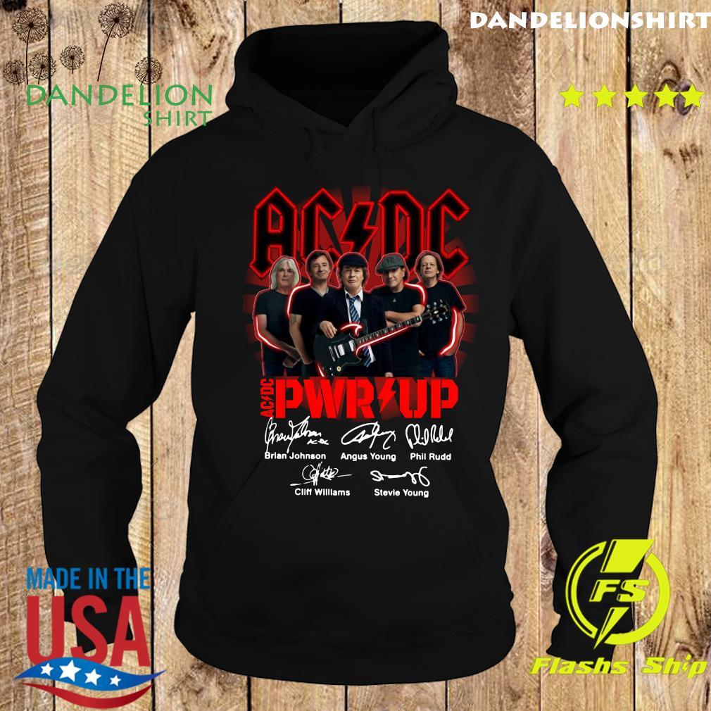 Official Ac Dc Rock Band Power Up Album Signatures Shirt Hoodie