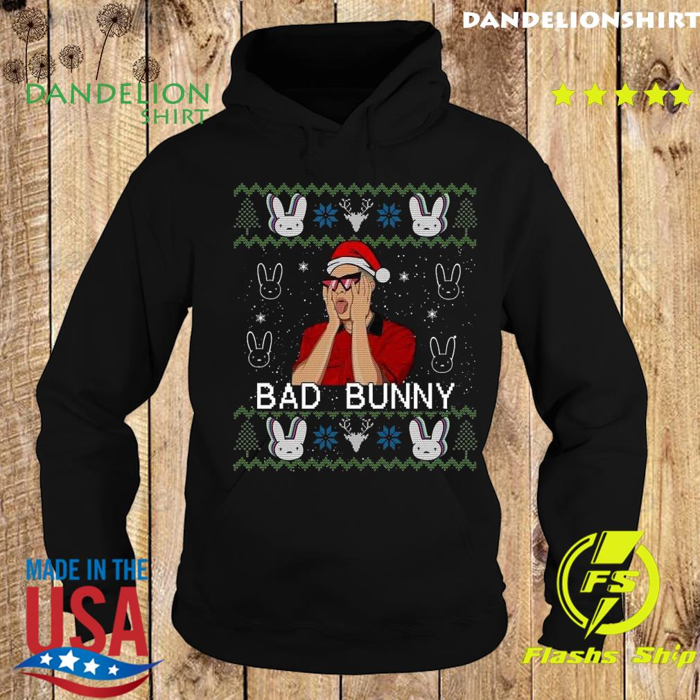 Official Bad Bunny Ugly Merry Christmas Sweats Hoodie