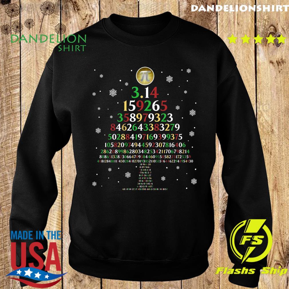 Pi 3.14159265 Tree Merry Christmas Sweatshirt