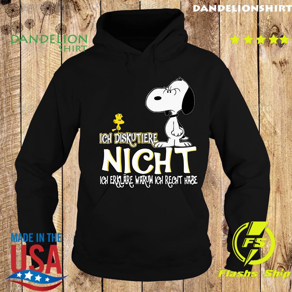 Snoopy And Woodstock Ich Diskutiere Nicht Ich Erklare Warum Ich Recht Hase Shirt Hoodie