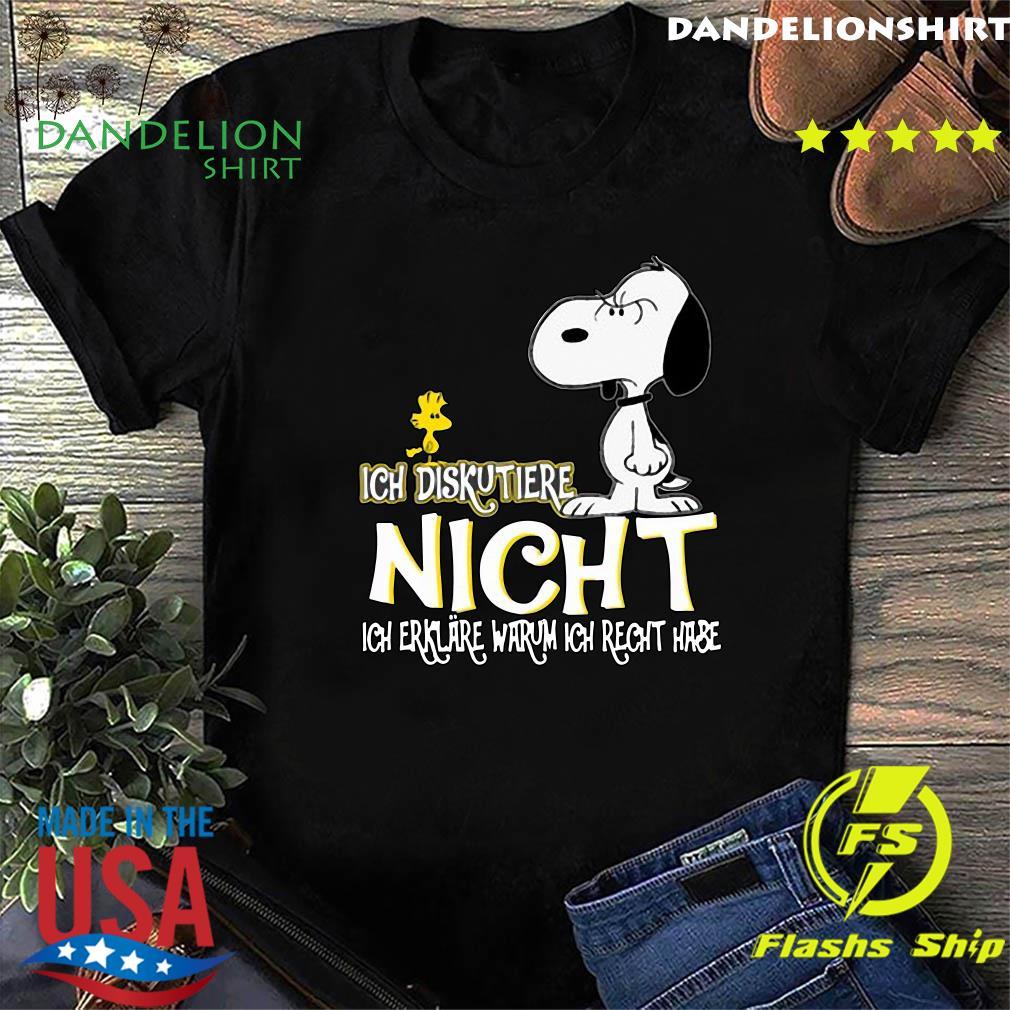 Snoopy And Woodstock Ich Diskutiere Nicht Ich Erklare Warum Ich Recht Hase Shirt