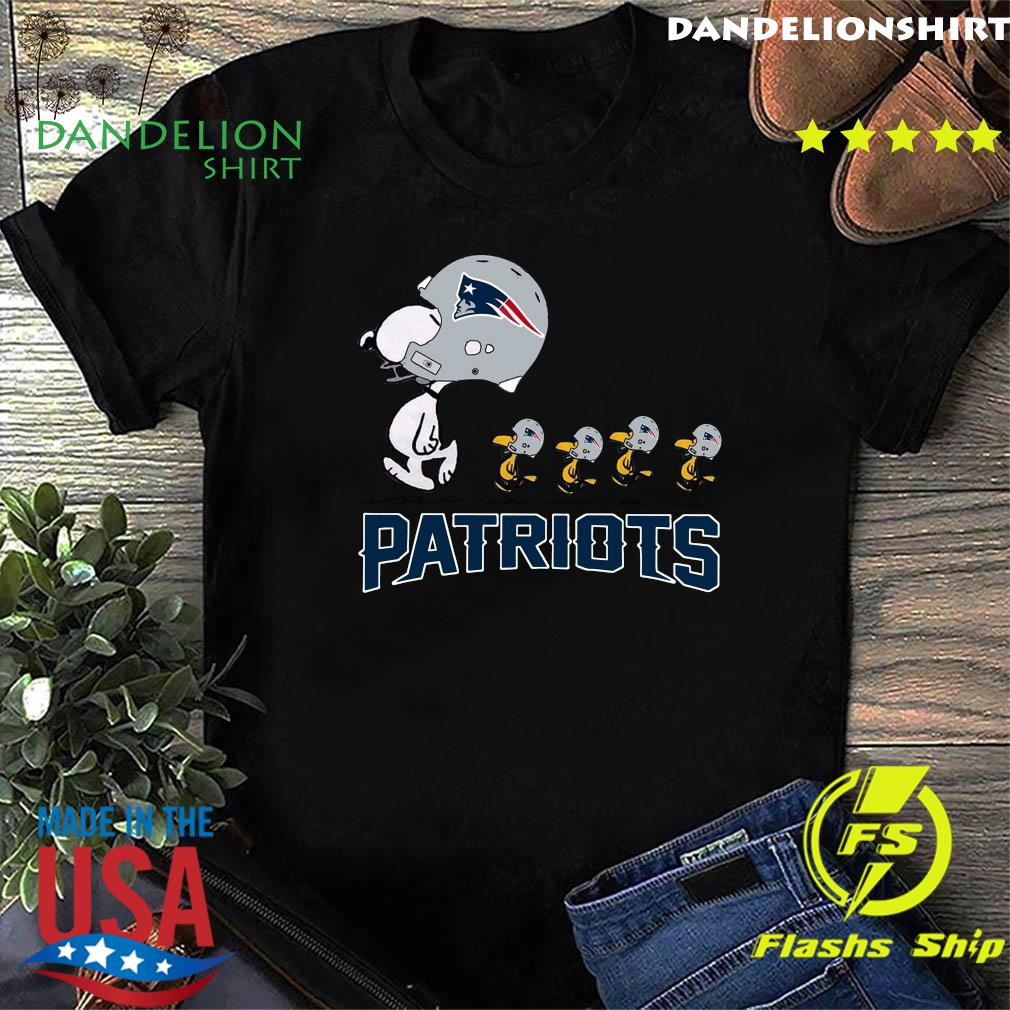 Snoopy And Woodstock New England Patriots Shirt
