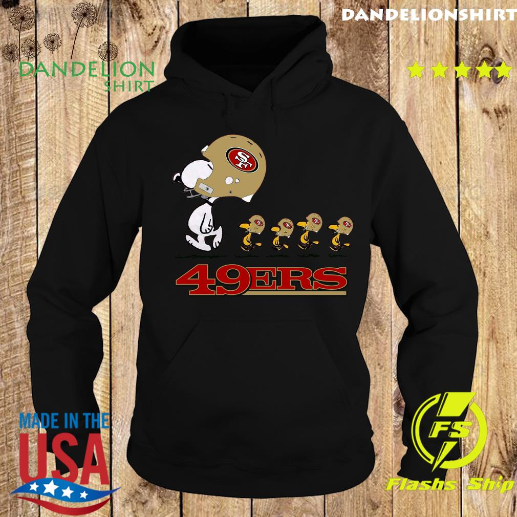 Snoopy And Woodstock The San Francisco 49ers Shirt Hoodie