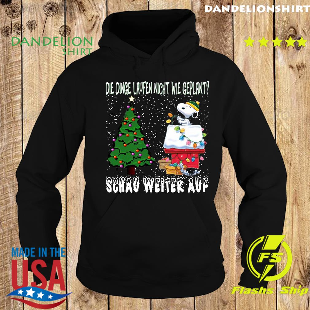 Snoopy Die Dinge Laufen Nicht Wie Geplant Schau Weiter Auf Merry Christmas Sweats Hoodie
