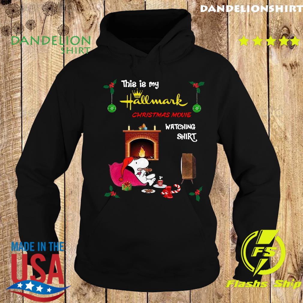 Snoopy This Is My Hallmark Christmas Movie Watching T-Shirt Hoodie