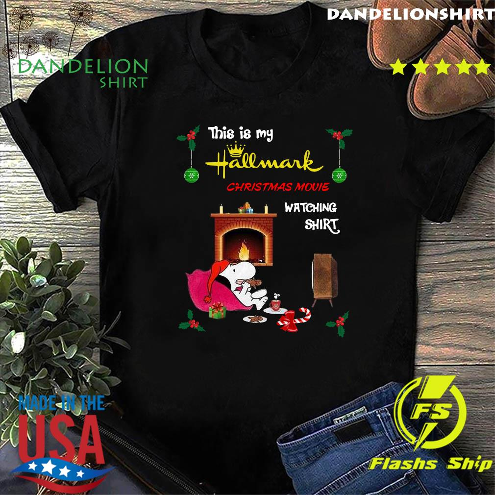 Snoopy This Is My Hallmark Christmas Movie Watching T-Shirt