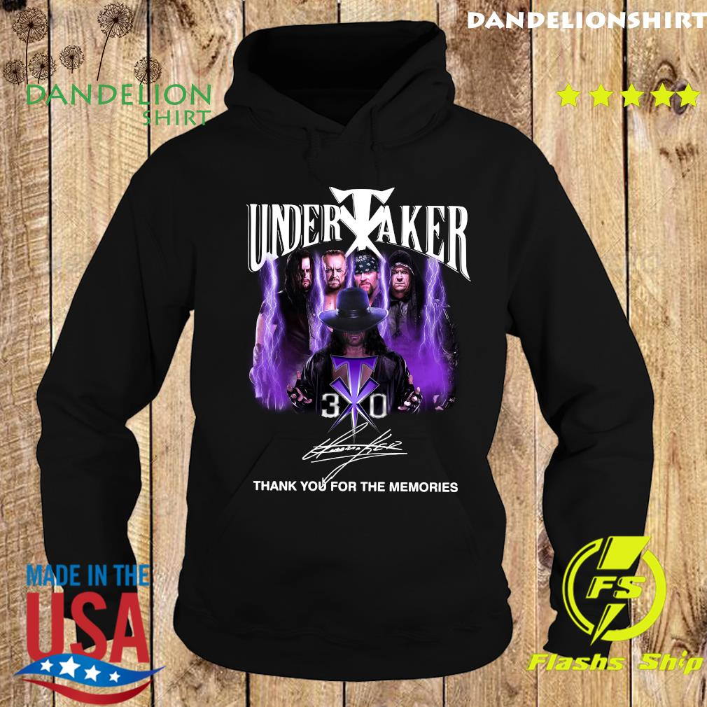The Undertaker 30th Anniversary Thank You For The Memories Signatures T-Shirt Hoodie